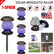 1-5pk Solar Mosquito Killer Light Fly Bug Insect Zapper Trap Pest Lamp Outdoor
