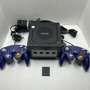 Nintendo Gamecube Console System Bundle W/ 2 Controllers Tested Working Read