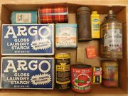 Vintage Advertising Lot Argo Starch Canadian Ace Beer Camel Goodrich Patch Kit