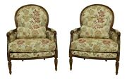 52311ec Pair Ethan Allen French Louis Xv Style Bergere Chairs