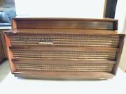 Working Vintage Orthophonic High Fidelity Record Player Rca Victor Wood Cabinet