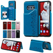 For Samsung S8 S9 S10 Plus 5g S10e Cats Patterned Leather Case Shockproof Cover