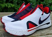 Nike Pg4 Usa Basketball Shoes Mens New In Box Red White Blue