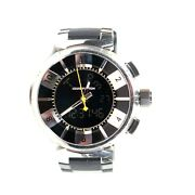 Louis Vuitton - Mens Tambour Watch - Stainless Steel Rubber Band Analog Digital
