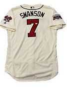 Mlb Authenticated - Dansby Swanson Autographed Atlanta Braves Jersey