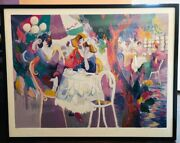 Isaac Maimon West Bank Cafe 1995 Hand Signed Serigraph With Frame And Coa