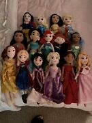 Disney Princess Plush Dolls - All In Excellent Condition