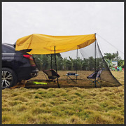 Camping Outdoor Car Suv Trunk Tent Rear Awning Sunshade Mosquito Proof Canopy