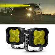 Lasfit Yellow Led Off Road Flood Lights Cube Work Pod Light For Ford Ranger F150
