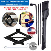 Scissor Jack+ Spare Tire Lug Wrench Tool Kit Steel For 2003-2017 Ford Super Duty