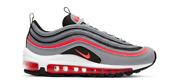 New Nike Air Max 97 In Wolf Grey/radiant Red-black Colour Size Us 9