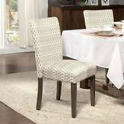 Homepop Gray Diamond Parson Chairs Set Of 2 Grey Modern And Contemporary