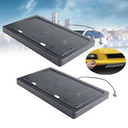 Usa Electric License Plate Frame Flipper Turn Off Holder W/ Remote Control 2pcs