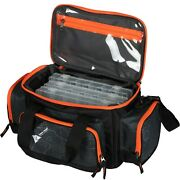 Ozark Trail 360 Fishing Tackle Bag With Tackle Boxes, Black
