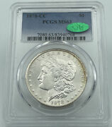1878-cc Pcgs And Cac Ms63 Morgan Silver Dollar Incredible Eye Appeal