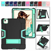 For Ipad Air 4 10.9 2020 Hybrid Shockproof Case Kickstand Cover With Pen Holder