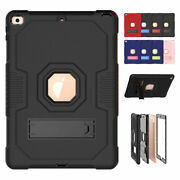 For Ipad 5th 6th 7th 8th Gen Rugged Armor Case Hybrid Protective Kickstand Cover