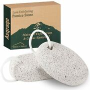 2 Pc Natural Pumice Stone Pedicure Foot Scrubber Ultimate Smooth Healthy Feet
