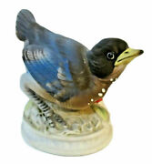 Vintage Lefton China Hand Painted Baby Blue Bird Figurine Kw 1637 Made In Japan
