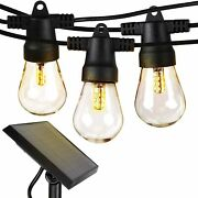 Brightech Ambience Pro Solar Power Led Edison Bulb String Lights 48 Ft 2 Pack