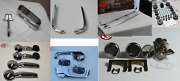 1967 1968 Chevy Truck Rear View Mirror, Handles, Locks, Sill Plate And Eyebrow Set
