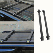 Fit For Jeep Patriot 2011-2016 Abs Black Top Roof Cargo Rack Cross Bars Cover