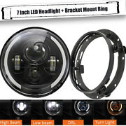 Hilo Beam 7and039and039 Round Led Headlights +bracket Mounting Ring Drl Fits For Ford F100