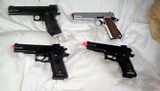 Lot 4 Spring Airsoft Pistols Parts Only. M1911 Model Ukarmsand Doubleeagle