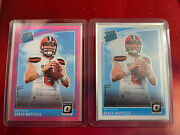 Baker Mayfield Rookie Cards Panini Pink And White Variant Set| Pristine Condition