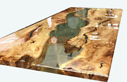 Acacia Wooden Epoxy Resin Diningconference Table Handmade Collectible Furniture