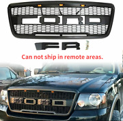 For 2004-2008 Ford F150 Raptor Style Conversion Front Hood Grille Led Grill Oem