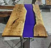 Handmade Epoxy Natural Wooden Center Top Table Dining Room Decor Made To Order