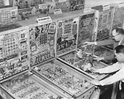 Bingo Pinball Machines And Gumball Coin-op Vintage 8x10 Reprint Of Old Photo