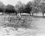 Antique Fire Department Hose Reel 1910s 8x10 Reprint Of Old Photo