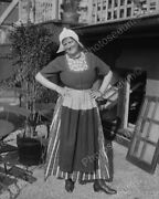 Dutch Housewife Viintage 8x10 Reprint Of Old Photo