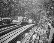Glen Echo Roller Coaster Tracks And Car 8x10 Reprint Of Old Photo