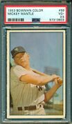 Mickey Mantle 1953 Bowman Color 59 Psa 3.5 Great Eye Appeal/well Centered