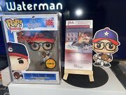 Funko Pop Ricky Vaughn Dpo Chase Autograph Signed Coa Charlie Sheen 1/15 Pieces