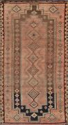 Antique Abadeh Evenly Low Pile Tribal Area Rug Geometric Oriental Handmade 4and039x8and039