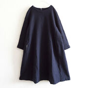 Comme Des Garcons 2017aw Condensed Wool Balloon Dress Xs Comcom Navy F7425