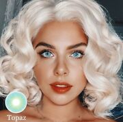 Topaz Contact Lens Color W/o Case Free Shipping New