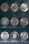 1971-78 Ike Dollar Set 32 With 40 Silver And 1990 90 Silver Ike Bu+pr Coin 8896