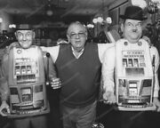 Laurel And Hardy Slot Machines Vintage 8x10 Reprint Of Old Photo