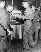 Soldiers And A Mills Throne Of Music Juke Box 8x10 Reprint Of Old Photo