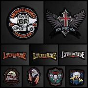 Cool Eagle Paw Live To Ride Embroidery Patches For Clothes Iron On Punk Biker Mo