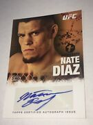 Nate Diaz 2010 Topps Certified 1st Autograph Card Auto Signed Signature