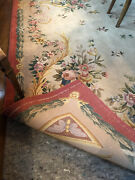 Vintage Oriental Carpet Hand Design And Handmade Small Wool Signed By Artist