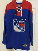 Nhl Fanatics New York Rangers Fleece Lined Hoodie. Size S. Preowned.
