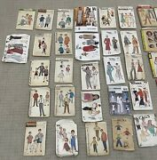Vtg 50s Sewing Patterns, Simplicity, Mccalls Butterick Lot Of 52 50s Fashion