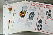 Crosetti Stough Glass Toy Novelty Candy Container Salesman Cut Sheets - 1940's